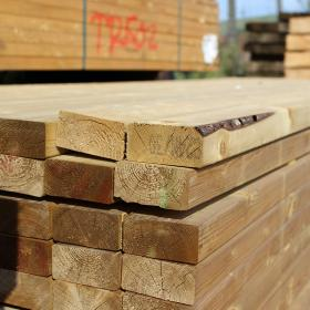 Green Treated English Softwood Decking Joists 100 x 50mm