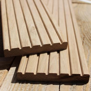 Lightweight Oak Decking Sample