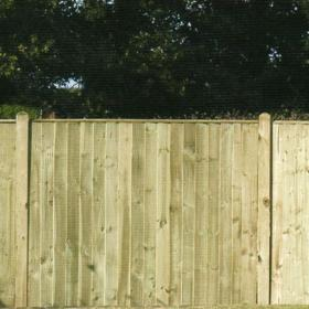 Green Treated Featheredge Fence Panel
