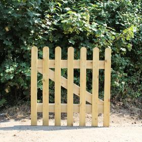 Oak Picket Gate