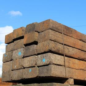Untreated Reclaimed Tropical Azobe Hardwood Sleepers