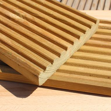 Green Treated Swedish Redwood Pine Decking