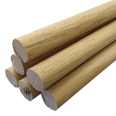 Rounded Oak Dowels
