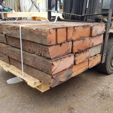 Extra Large Untreated Reclaimed Tropical Hardwood Sleepers