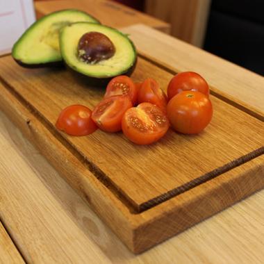 Solid Oak Charcuterie Board - Serving Platter
