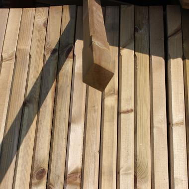 Treated Softwood Stop Chamfered Spindle