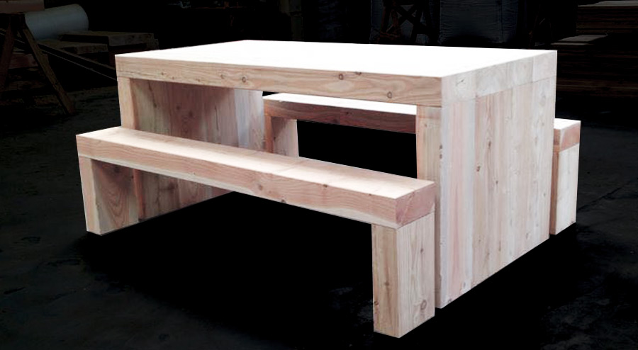 Garden Tables Buy Douglas Fir Refectory Table And