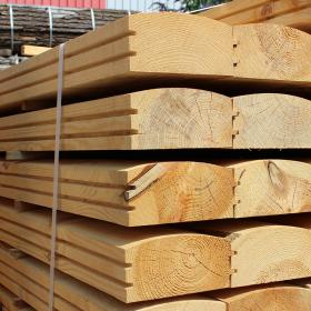 English Larch Douglas Fir Log  Lap, Jigsaw Railway Sleepers